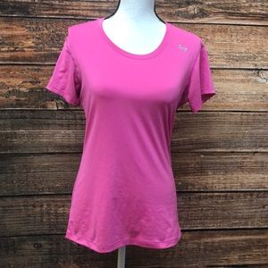 Under Armour Fitted Pink T Shirt